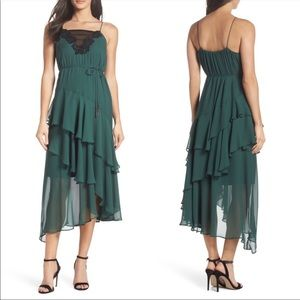 Cooper St evergreen lace dress, size 10